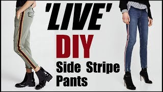 DIY: Side Stipe Pants- LIVESTREAM w/ My Teenage Niece -By Orly Shani