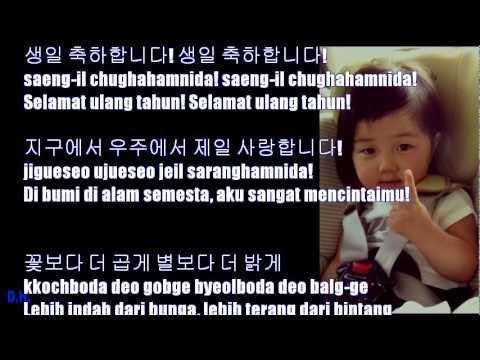 Happy Birthday Song Korean Ver 2 Lengkap Mari Belajar Bahasa Korea Bersama Sama
