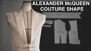 ALEXANDER MCQUEEN | STUDY OF COUTURE SHAPE COLLAR【Pattern Making / Draping/ Sewing / Vlog】