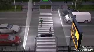 Умный пешеходный переход в Астане
