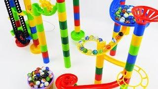 Aprende Colores con Tobogán de Canicas! Juegos Infantiles Marble Maze Run