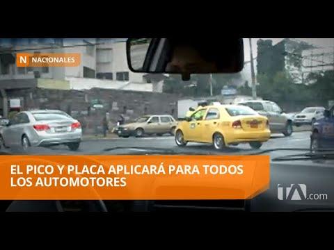 El pico y placa en la capital regira todo el dia desde el 1 de septiembre de 2019 - Teleamazonas