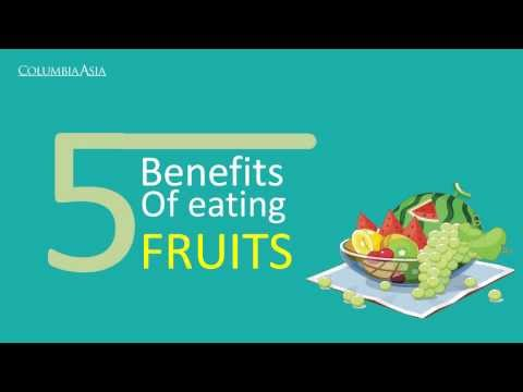 Video 5 benefits of eating fruits