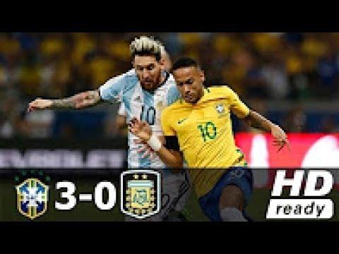Brazil vs Argentina 3 - 0 : All Goals &  Highlights - World Cup 2018 HD