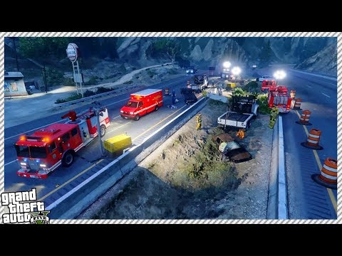 4 CAR FATAL HIGHWAY CRASH ACCIDENT IN GTA 5