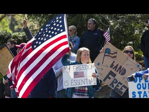 ΗΠΑ-COVID-19: Διαδηλώσεις κατά των μέτρων περιορισμού