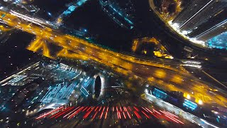 DIVING THE MOSCOW CITY AT NIGHT//FPV Freestyle