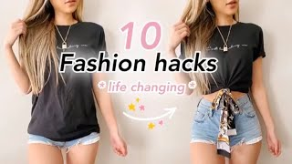 10 Fashion hacks that will CHANGE YOUR LIFE | Quick & Easy No Sewing!
