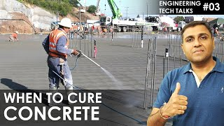 CONCRETE CURING: What is the perfect time for CURING of CONCRETE // Best time for CONCRETE CURING
