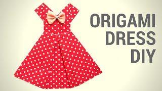 Оригами платье своими руками. Hand Made. Сделать просто! В этом видео я покажу как сделать оригами платье из бумаги!  Сделать его очень просто! Я надеюсь, что у тебя получится! Подписывайся на мой канал, чтобы не пропустить новые