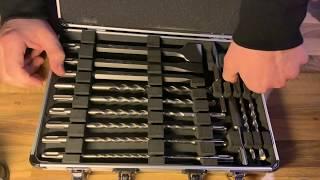 Makita D-42444 SDS+ Bohrer/Meissel-Set 17tlg, 1 W, 1 V Bohrer Meißel Set Unboxing und Anleitung