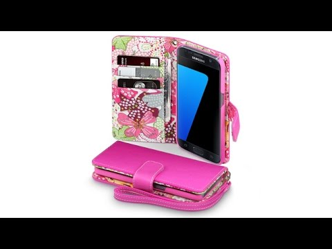 Samsung Galaxy S7 Hülle Leder - Pink mit Lily Interior