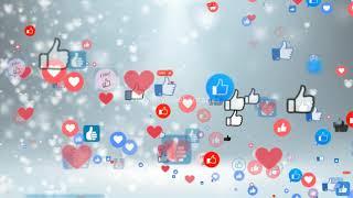 social media network likes & hearts   social media likes, social media hearts, Royalty Free Footages