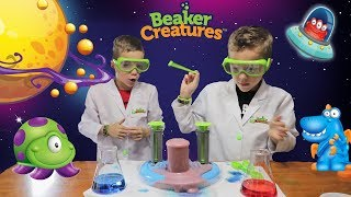 Twin vs Twin:  Beaker Creatures! Family Fun Science Play for Kids