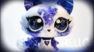 LPS Timelapse - Galaxy Inspired Crouching Kitty - Handpainted By HelloStudios