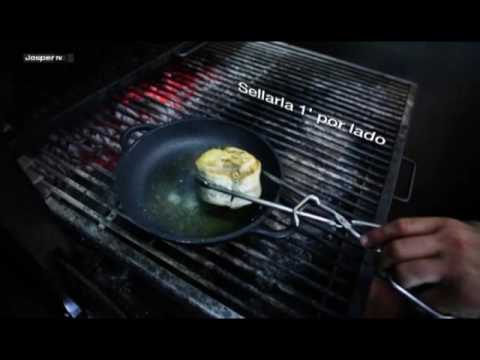 Video Hake with young eel Charcoal oven - Engels