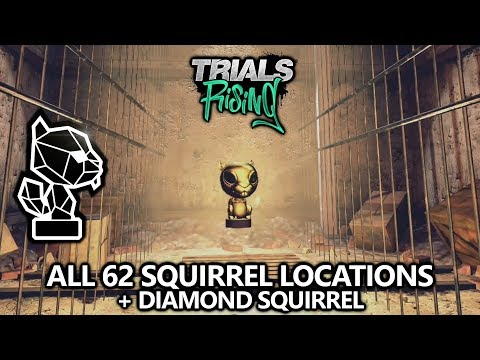 Trials Rising - All 62 Squirrels - Collectibles Locations - Diamond Squirrel Achievement/Trophy