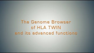 The Genome Browser of HLA Twin (Advanced)
