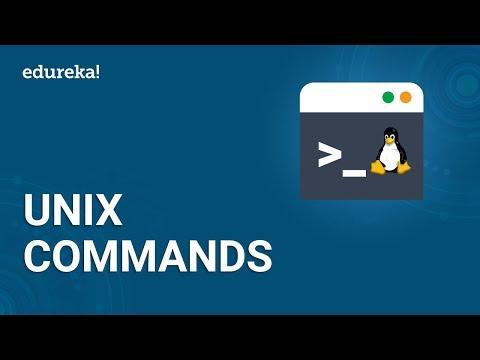 Basic UNIX Commands | UNIX Shell Commands Tutorial for Beginners | UNIX Training | Edureka