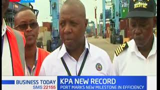 Kenya Ports Authority records the highest number of containers