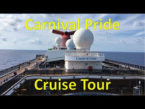 Carnival Pride FULL SHIP TOUR 2017 — Departure from Port of Baltimore