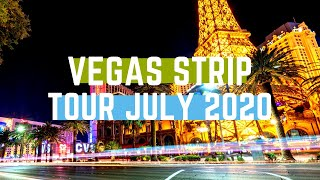 Vegas Strip Tour July 2020 - Wind, Masked Caesar & Treasure Island Is Rundown!