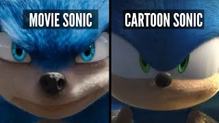 Sonic The Hedgehog 2019 Movie Trailer Remade Side By Side Comparison ( Sonic Trailer Fixed)