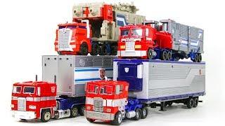 Transformers  Movie G1 TR POTP Trailer Truck Optimus Prime 4 Vehicles Transform Robots Toys