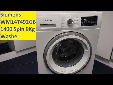 Siemens WM14T492GB 1400 Spin Washing Machine