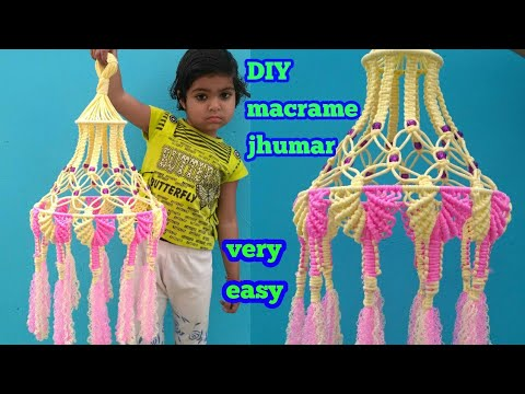 very simple macrame jhumar new design | macrame jhumar new design | educational power