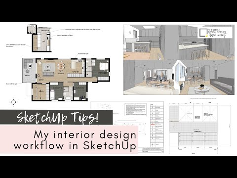 SketchUp for Interior Design - my full workflow with clients