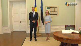 Preşedintele Klaus Iohannis s-a întâlnit cu premierul eston