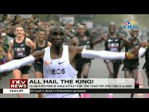 Eliud Kipchoge wins male athlete of the year for the 2nd time in a row