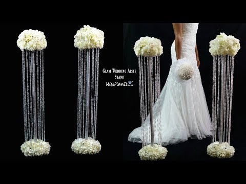 DIY Glam Aisle Wedding Ceremony Decorations | Glam Aisle Pillars | DIY Tutorial