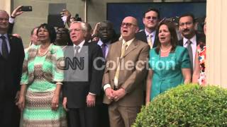 CUBA EMBASSY OPENING CEREMONY-NATL ANTHEM