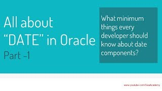 Oracle ALL About Dates PART 1 Understanding Date Components   oracle date format specifiers