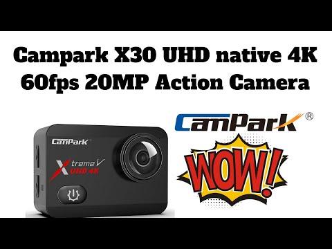 Campark X30 UHD native 4K 60fps 20MP Action Camera