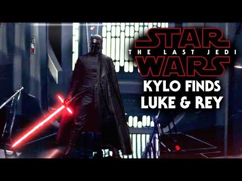 Star Wars The Last Jedi - How Kylo Ren Finds Luke & Rey