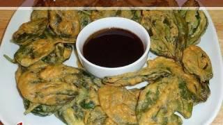 Crispy Spinach Pakoras Recipe by Manjula Indian Vegetarian Gourmet