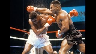 Бокс. Майк Тайсон - Тайрэлл Биггс. (Беленький, Высоцкий)  Mike Tyson - Tyrell Biggs