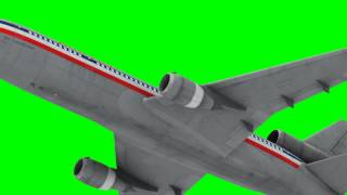 best animated plane flying in green screen HD