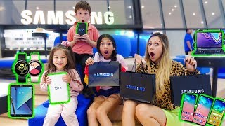 NO BUDGET AT THE VERY FIRST SAMSUNG GALAXY STUDIO | Familia Diamonds
