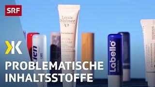 Lippenbalsam-Test: Sanfter Kussmund ohne Fette aus Erdöl   2019   SRF Kassensturz