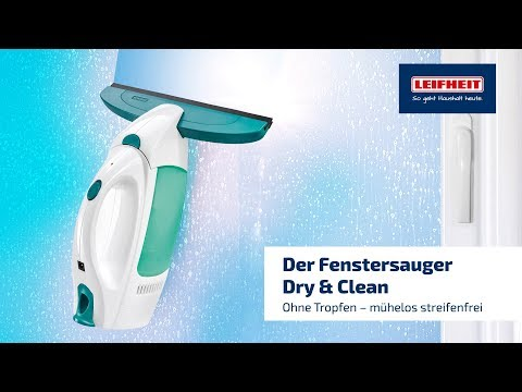 leifheit 51000 dry clean fenstersauger standby automatik saugt ber kopf ebay. Black Bedroom Furniture Sets. Home Design Ideas