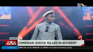 Comedian 'Ayeiya' dies after his car crashed into a concrete pole