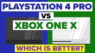 Sony Playstation 4 Pro vs Microsoft Xbox One X - Which Is Better - Video Game Console Comparison - dooclip.me