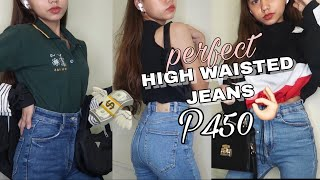 HIGH WAISTED JEANS OUTFIT IDEAS!! WHERE TO BUY? (ZARA JEANS FOR ONLY P450!!)