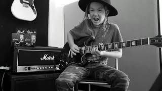 YouTube video E-card Instrumental 9 year old guitarist taj farrant plays chris Stapleton Tennessee whiskey on his