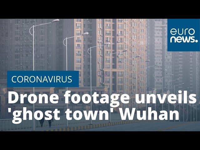Дрон ABC News заснял сюрреалистичные безлюдные улицы Уханя