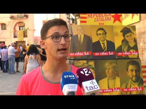 L'Espluga celebra la Diada enviant 16 postals als presos i exiliats